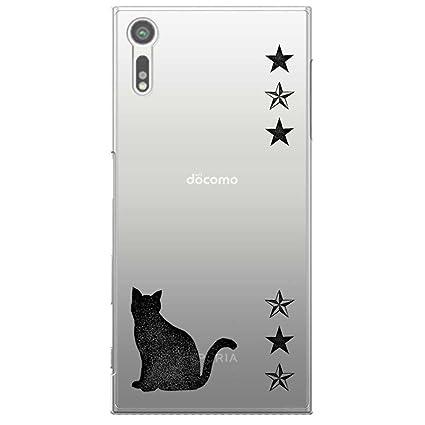 57dc072f6b Xperia XZ SO-01J SOV34 601SO カバー ハードケース ポリカーボネイト クリアケース 猫とスター