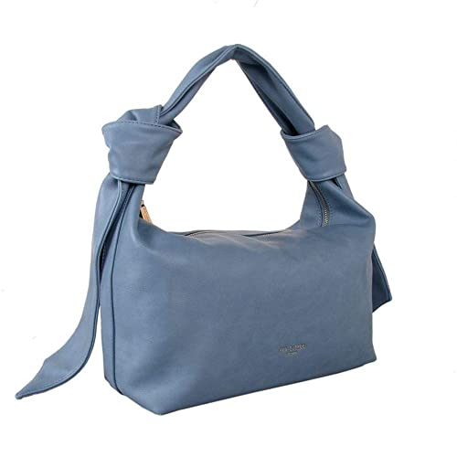 6f4781688a35 Red Cuckoo London Knot Detail Slouchy Shoulder Bag (Blue)  Amazon.co ...