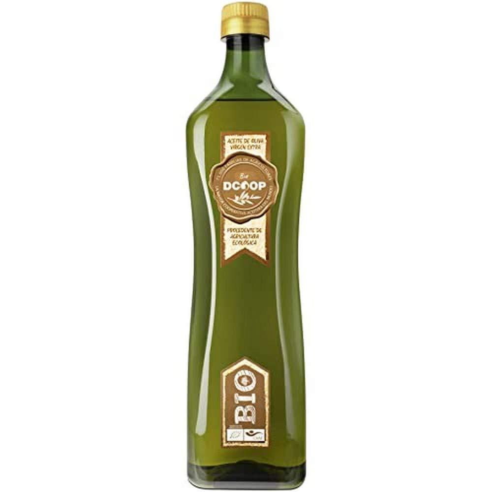 DCOOP Aceite de Oliva Virgen Extra Bio - Ecológico, Natural, Pleno Sabor, Perfecto para Cocinar Cualquier Plato, Procedente de Nuestras Cooperativas, 1 Litro