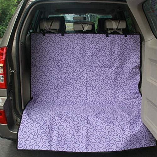 ペットシートカバー ペットの後部座席の保護マット防水滑り止め犬のシートカバーには傷から車を保護します (Color : Purple, Size : 145x120cm)