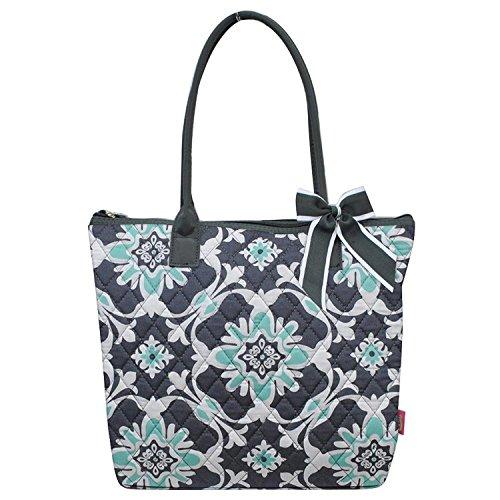 Ngil Quilted Cotton Medium Tote Bag 2018 Spring Collection (Quatro Vine Grey)