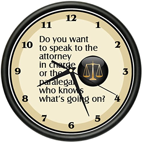 PARALEGAL Clock office study funny product image