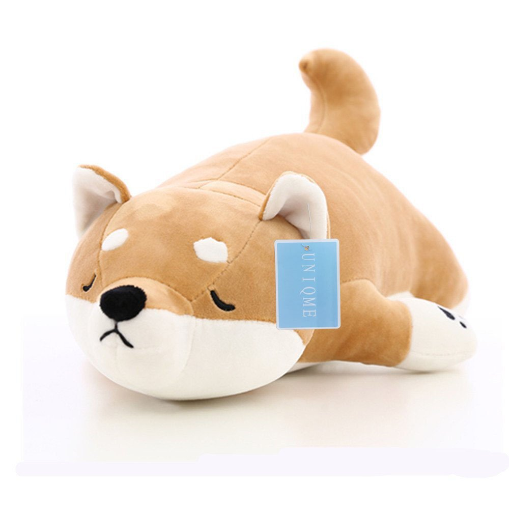 "UNIQME Dog Plush Doll Stuffed Shiba Inu 3D Animal Zoo Pet Throw Bed Nursery Decoration Baby Play Toy Puppy Shape Sleeping Pillow Gift for Girl Boy 21.6"", 21.6inch"
