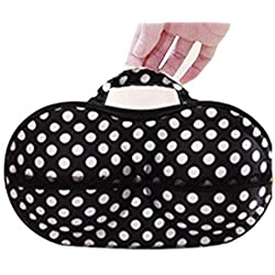 Sinfu Polka Dot Storage Box Bra Underwear Lingerie Case Travel Bag