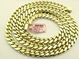 MIAMI CUBAN LINK 10KT YELLOW GOLD 9 MM SOLID GOLD 30 INCHES LONG GOLD WT 169.50 GRAMS