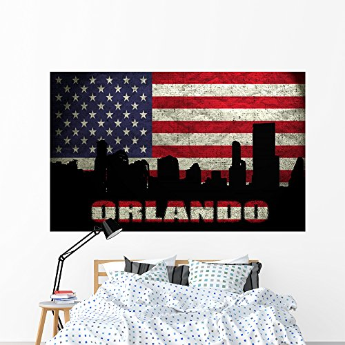 Orlando Wall Mural by Wallmonkeys Peel and Stick Graphic (72 in W x 45 in H) - Town Orlando Center