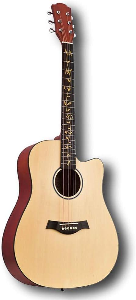 YJFENG ドレッドノート アコースティックギター、伴奏 高音 良い共鳴効果 マット面 スチールストリング カッタウェイギター アマチュア、41インチ (Color : Red, Size : 104.14x40.5cm)