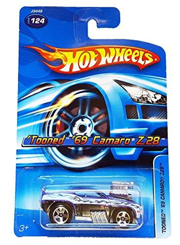 Hot Wheels #2006-124 Tooned 1969 Camaro Z28 Purple K-Mart Exclusive Collectible Collector Car ()