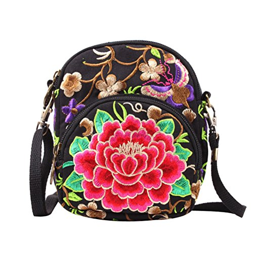 Bag Flowers Abuyall Shoulder Small Bag Bag Bags Ethnic Graffiti Clutch Embroidered Strap Pt16 Retro Evening Style Shoulder Cross Body Removable Canvas Womens Bag Phone CwqpBf