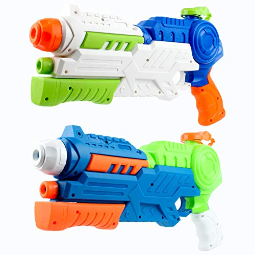 Casolly Water Gun Super Soaker Blaster 1200CC High Capacity 32ft Distant Squirt Toy for Kids for Swimming Pool Beach Sand Summer Water Fighting.2 Pack
