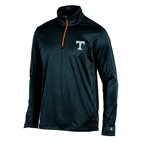 NCAA Tennessee Volunteers Men's Lightweight Quarter Zip W Jacket, Black Heather, - Jacket Volunteers Tennessee
