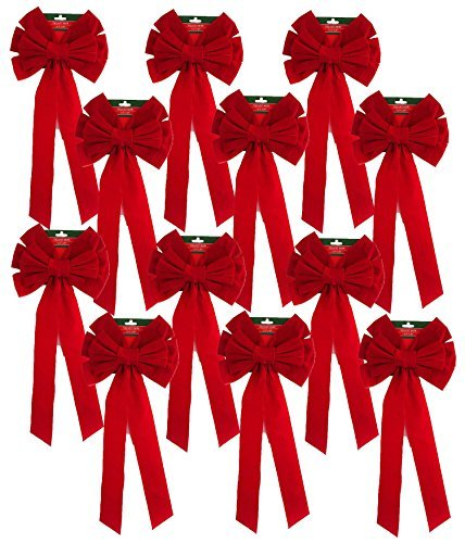 Red Velvet Bow (12 Pack) 26