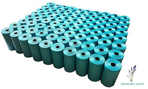 - Poop Bags- 1600 Dog Pickup Bags, 80 Basic Refill Rolls, Easy Handling Pet Waste Disposal Bags, Lavender-Scented