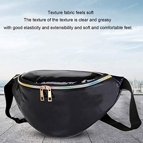 Refago Black to Laser Bag Silver Pocket Carry Fashion Beach Waist Easy Modern rA6nXrx5P