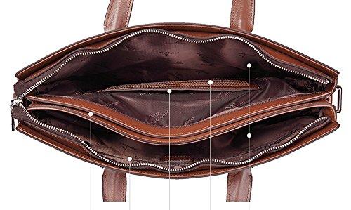 BINSON DENIM Herren Leder Aktentasche Herren Handtaschen Herren Umhängetasche Herren Laptop Tasche Hohe Qualität N2362