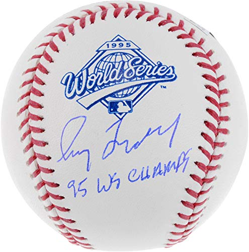 Greg Maddux Atlanta Braves Autographed 1995 World Series Logo Baseball with