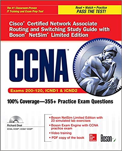 Ccna Cisco Certified Network Associate Routing And Switching Study Guide Exams 200 120 Icnd1 Icnd2 With Boson Netsim Limited Edition Certification Press 9780071832083 Computer Science Books Amazon Com