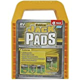 Camco RV Stabilizing Jack Pads, Helps Prevent Jacks From Sinking, 6.5 Inch x 9 Inch Pad - 4 pack