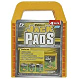 Camco RV Stabilizing Jack Pads, Helps Prevent Jacks From Sinking, 6.5 Inch x 9 Inch Pad - 4 pack (44595)