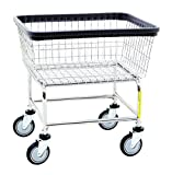 Narrow Laundry Cart, basket color: Chrome