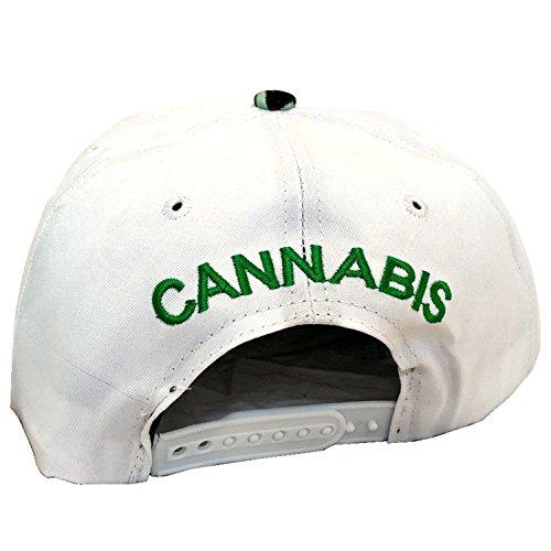 unisex marihuana de plantas Gorra con con de King Ice plana de White diseño Marijuana visera 4qrPawq7