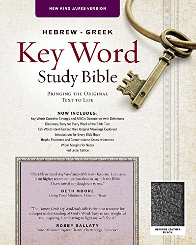 The Hebrew-Greek Key Word Study Bible: NKJV Edition, Black Genuine Leather (Key Word Study Bibles) (Greek Translated Bible)