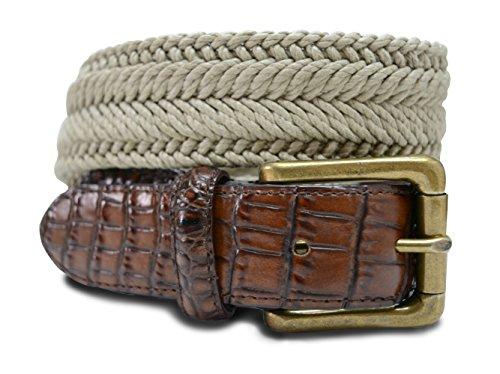 """7917-TAN-50 - Marco LTD Men's Cotton Braided Dress Belt Big & Tall 50(fits 48"""" (Cotton Embossed Belt)"""
