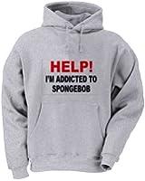 HELP! I'M ADDICTED TO SPONGEBOB Adult Hooded (Hoody) Sweatshirt In Various Colors