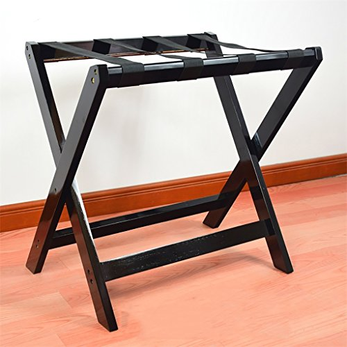 ge rack Solid wood luggage rack, hotel bedroom Foldable Luggage Rack, Suitcase Stand, Holding Suitcases Backpacks as Luggage Support and Suitcase Shelf。 (Color : B) ()