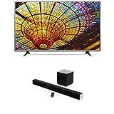 LG 55-Inch 4K Ultra HD Smart LED TV and VIZIO 38-Inch 2.1 Sound Bar