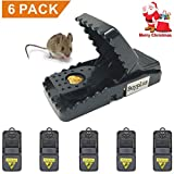 Mouse Trap - Rat Traps Snap Humane Power Rodent Killer(6 Pack), Mice Trap,Sensitive Reusable and Durable by Buyplus (6)