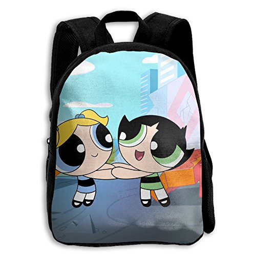 Cute Powerpuff Girl Costumes (Powerpuff Girls Functional Design For Kids School Backpack Children Bookbag Perfect For Transporting For Casual In 4 Season)