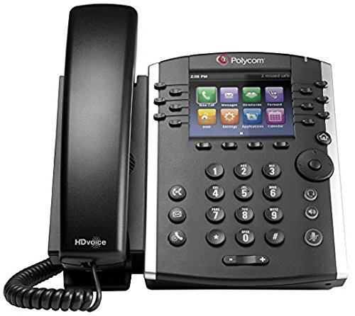Polycom VVX 410 12-Line Desktop Phone (Power Supply Included) (Line Voip Desktop Phone)
