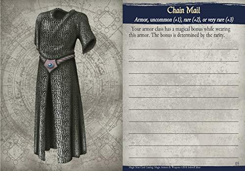 Inkwell Ideas Magic Item Card Catalog (5e): Magic Armors & Weapons
