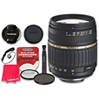 Tamron Auto Focus 18-200mm f/3.5-6.3 XR Di II LD Aspherical (IF) Macro Zoom Lens for Canon with Commander Ultra-Violet Protector UV Filter & Circular Polarizer CPL Multi-Coated - International Version