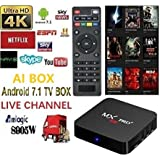 [2018 newest version] Plug in use USA Version WI-FI V17.6 android 7.1.2 MX pro TV box