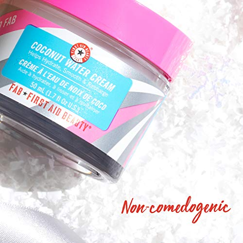First Aid Beauty Hello FAB Coconut Water Cream – Lightweight, Oil-Free Face Moisturizer – 1.7 oz.
