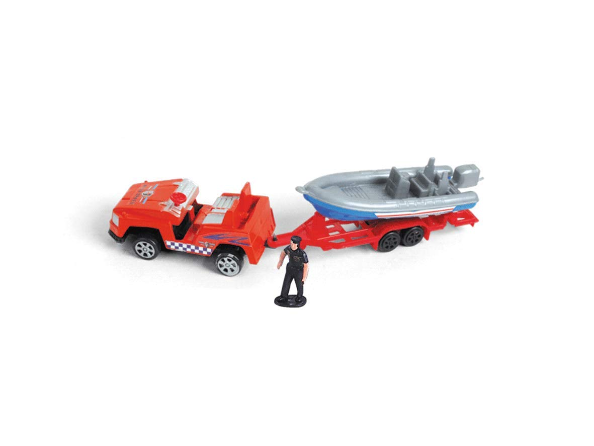 AMPERSAND SHOPS Complete Airport Concourse Vehicle Airplane Workers Cops Police Figurines Accessories Playset with Carrying Case Storage Box by AMPERSAND SHOPS (Image #3)