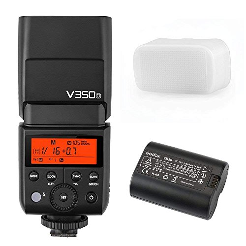 Godox V350 Series TTL 2.4G Li-ion Camera Flash Built-in Rechargeable Battery Canon/Nikon/Sony/Olympus /Fujifilm (V350-O Olympus Panasonic)