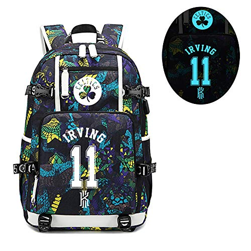 Basketball Player Star Irving Luminous Backpack Travel Student Backpack Fans Bookbag for Men Women (Stlye 2)