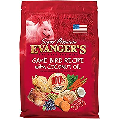 Evanger's Super Premium Gamebird Recipe with Coconut Oil Dry Food for Dogs