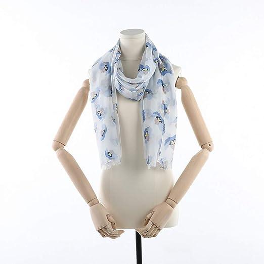 Estampado Floral Bufanda De Seda De Pájaro Mujer Bufandas Largas De Algodón Abrigo Cálido Chal Foulard Diseño Femenino: Amazon.es: Hogar
