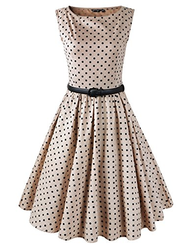 Vintage Brown Polka Dot - 9