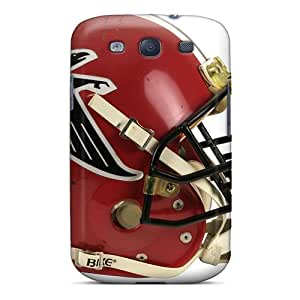 Flexible Tpu Back Case Cover For Galaxy S3 - Atlanta Falcons Helmet Red