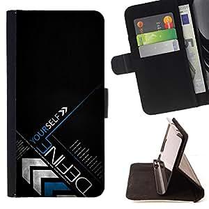 BullDog Case - FOR/LG G3 / - / DEFINE YOURSELF /- Monedero de cuero de la PU Llevar cubierta de la caja con el ID Credit Card Slots Flip funda de cuer