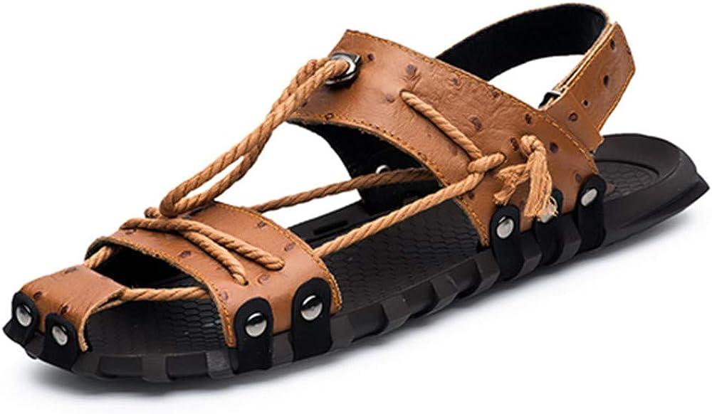 Genuine Leather Men Sandals Shoes Breathable Fisherman Shoes Style Retro Gladiator Summer Men Footwear