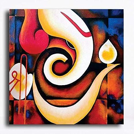 Buy Pixelartz Canvas Painting Sri Ganesh Lord Ganesha