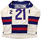 Kooy Mike Eruzione #21 1980 Miracle On Ice USA Hockey Jersey