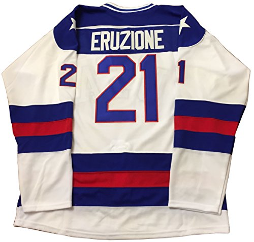 Kooy Mike Eruzione  21 1980 Miracle On Ice Usa Hockey Jersey  Medium