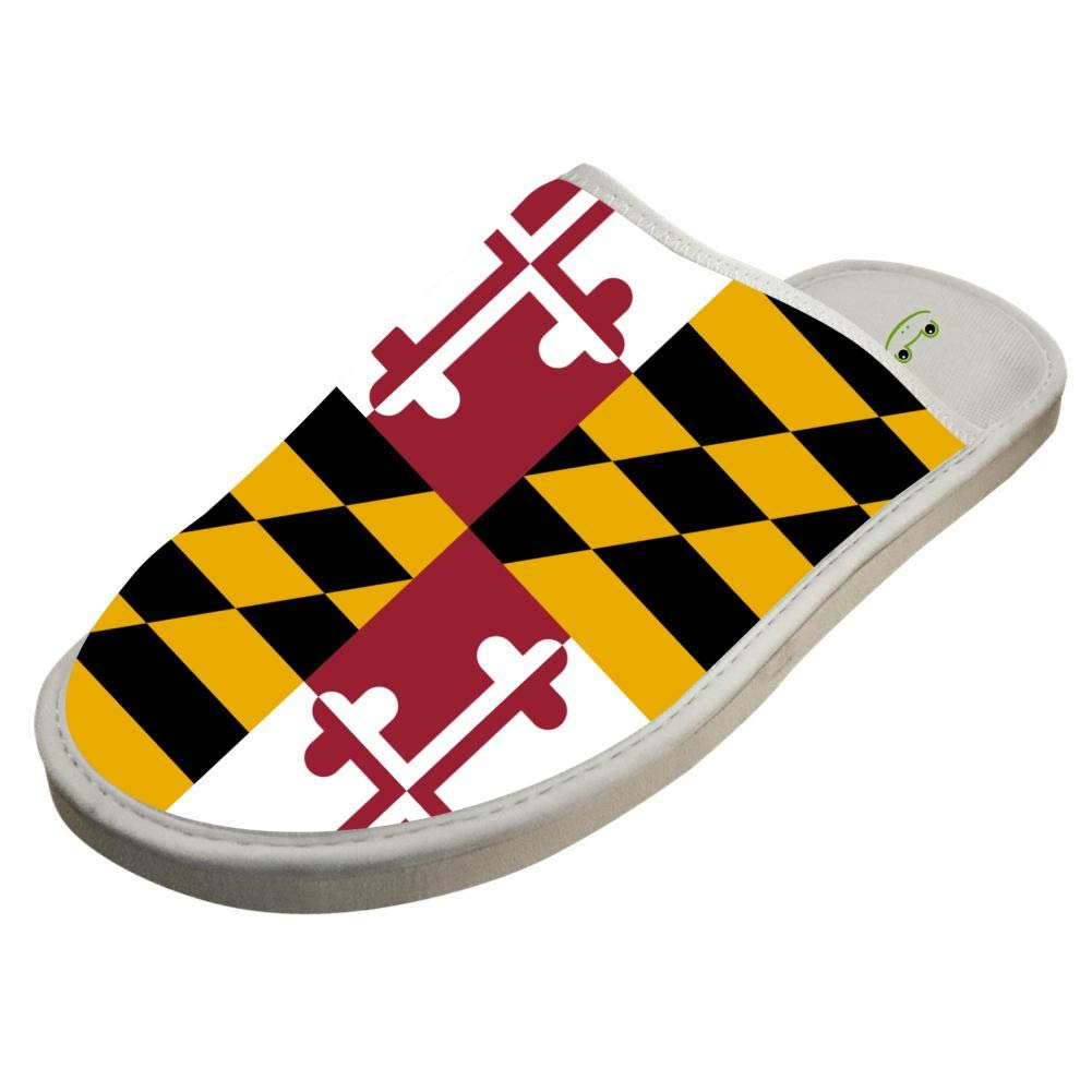 db35806377a72 Amazon.com: JJZZA Adult Cool Design House Slippers,Maryland Flag ...